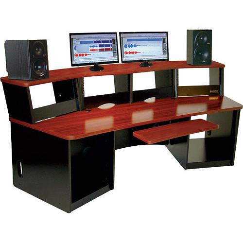 Omnirax Force 40 Multi-Purpose Workstation With One Piece Monitor Bridge (Black)