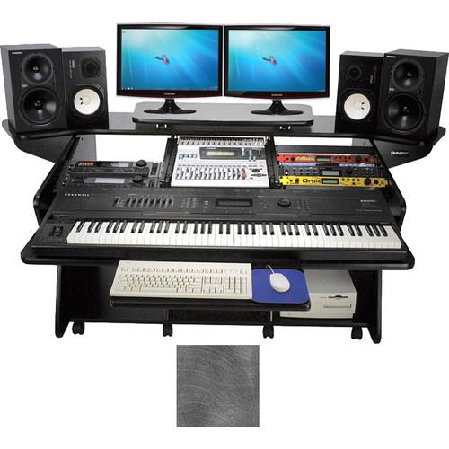 Omnirax Keyboard Composing / Mixing Workstation (Pewter Brush)