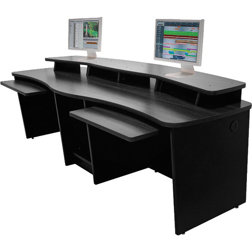 Omnirax Gemini Dual-Position Multi-Purpose Workstation (Black Melamine)