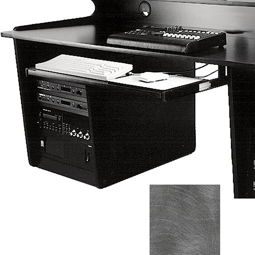 Omnirax Computer Keyboard / Mouse Shelf (Pewter Brush)
