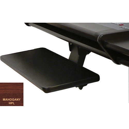 Omnirax Under-Desk Articulating Keyboard/Mouse Shelf (Mahogany)