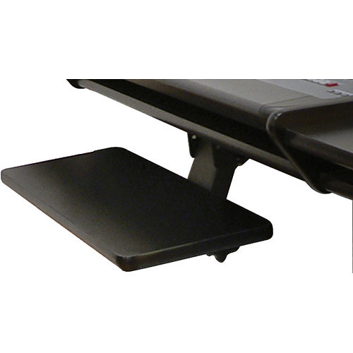 Omnirax Adjustable Computer Keyboard / Mouse Shelf (Black Melamine)