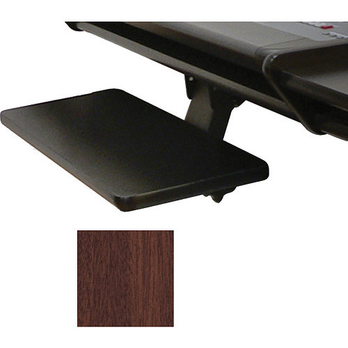 Omnirax Adjustable Computer Keyboard / Mouse Shelf For Dual Table(Mahogany)
