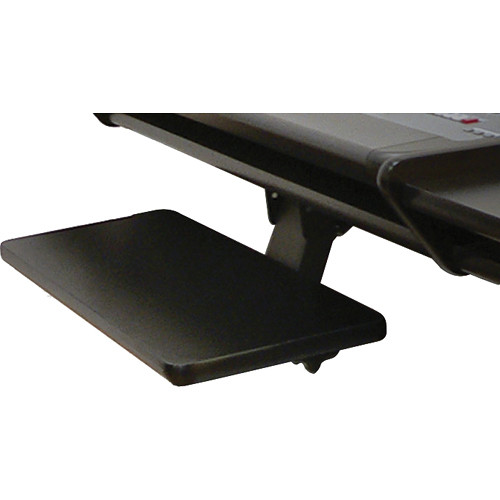 Omnirax KMSNT-B Adjustable Keyboard / Mouse Shelf for NT / NT2 (Black Melamine)