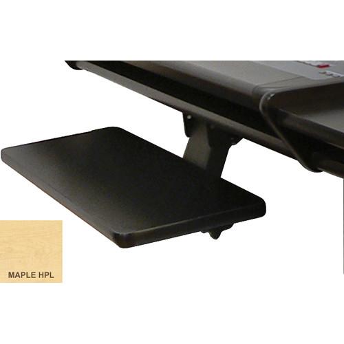 Omnirax Adjustable Computer Keyboard / Mouse Shelf for Nova (Maple Melamine)