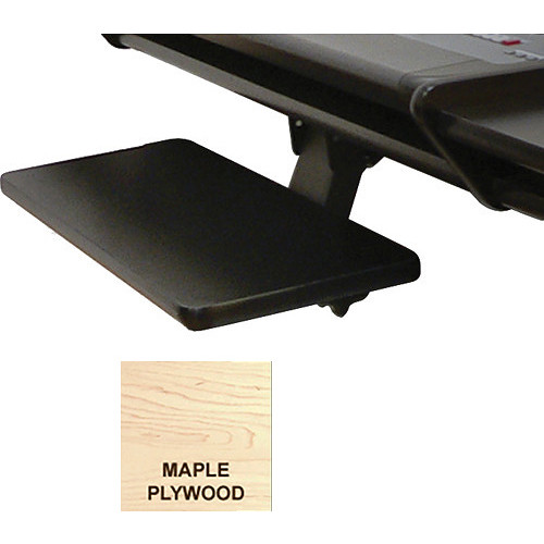 Omnirax Adjustable Computer Keyboard / Mouse Shelf for Nova (Maple Plywood)