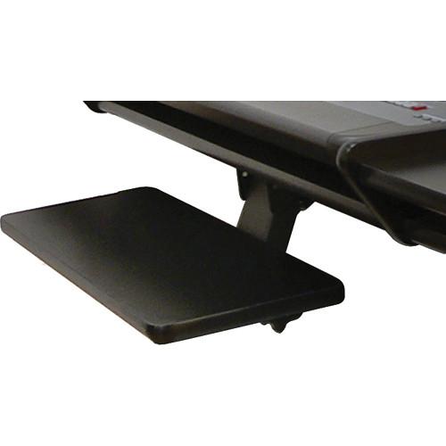 Omnirax KMSO2R-B Adjustable Keyboard / Mouse Shelf for 02R (Black Melamine)