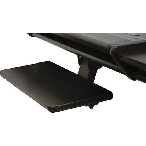 Omnirax KMSOM-PB Adjustable Keyboard / Mouse Shelf for OmniDesk (Pewter Brush HPL)