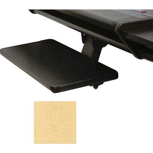 Omnirax Adjustable Computer Keyboard / Mouse Shelf for Presto (Maple)