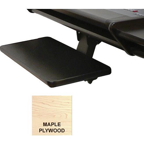 Omnirax Adjustable Computer Keyboard / Mouse Shelf for Presto (Maple Plywood)
