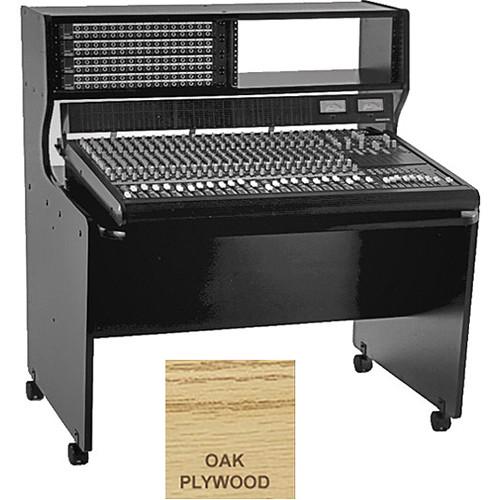 Omnirax 8 Rack Space Multi-Purpose Mixing / Composing Desk (Oak Plywood)