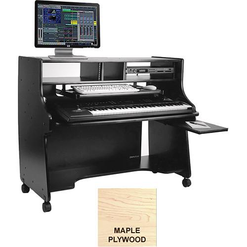Omnirax Ministation Compact Keyboard Workstation (Maple Plywood)