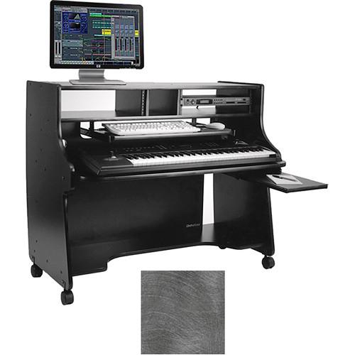 Omnirax Ministation Compact Keyboard Workstation (Pewter Brush)