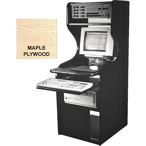 Omnirax Mobile Computer Workstation With 10 Rack Spaces (Maple Plywood)