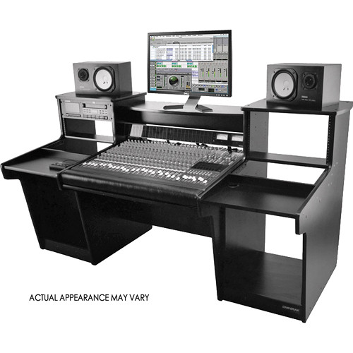 Omnirax MixStation Workstation for the Avid 24 Mixer (Black Melamine)