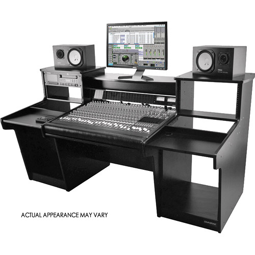 Omnirax MixStation Workstation for the Tascam DM-3200 Mixer (Black Melamine)