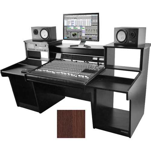 Omnirax Mixstation for Mackie 24 8-Bus Mixer (Mahogany)
