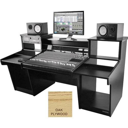 Omnirax Mixstation for Mackie 24 8-Bus Mixer (Oak Plywood)