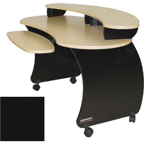 Omnirax Compact Audio Video Desk With Riser (Black)