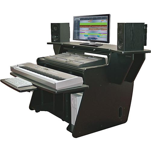 Omnirax NT2 Keyboard Composing Mixing Workstation (Black Melamine)
