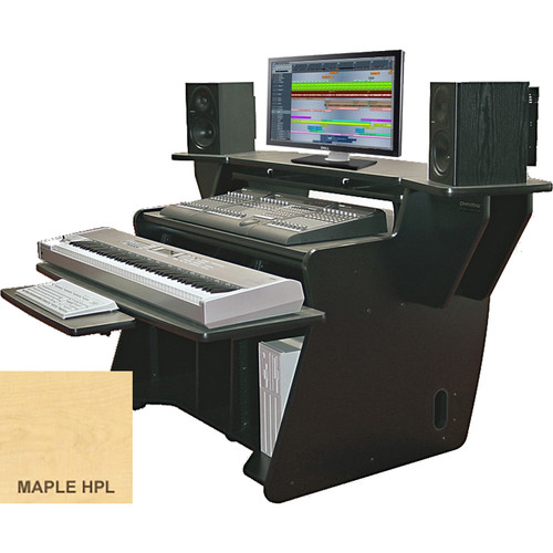 Omnirax NT2 Keyboard Composing / Mixing Workstation with Sliding Monitor Bridge (Maple Formica)