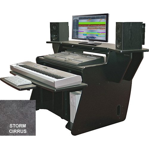 Omnirax NT2 Keyboard Composing / Mixing Workstation with Sliding Monitor Bridge (Storm Cirus Formica)