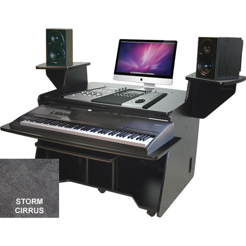 Omnirax NT Keyboard Composing / Mixing Workstation (Storm Cirus Formica)