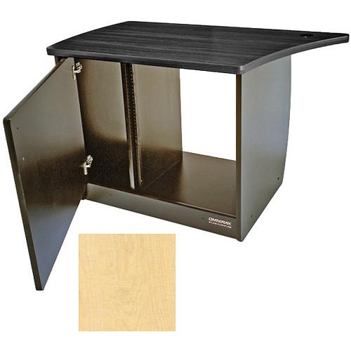 Omnirax 13 Space Rack Cabinet with Door for Left Side of Omnidesk (Maple)