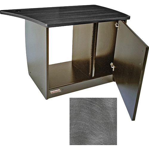 Omnirax 13 Space Rack Cabinet with Door for Right Side of Omnidesk (Pewter Brush)