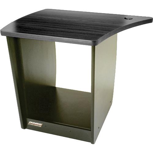 Omnirax OM13L 13-Space Rack Cabinet for Left Side of OmniDesk (Black Melamine)