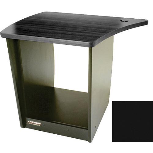 Omnirax 13 Space Rack Cabinet for Left Side Of The Omnidesk (Black)