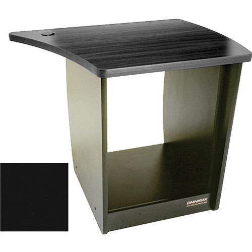 Omnirax 13 Space Rack Cabinet for Right Side Of The Omnidesk (Black)