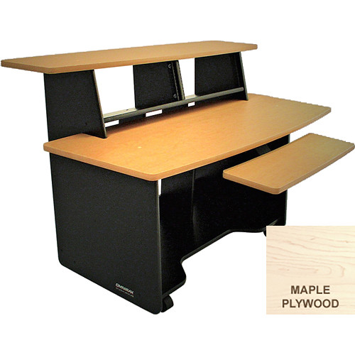 Omnirax PRESTO Audio/Video Composing Workstation with Two 4-Space Rack Bays (Maple Plywood)
