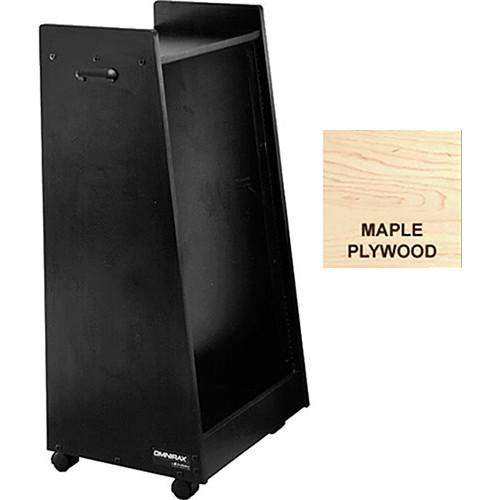 Omnirax 20 Space Slanted Rolling Rack (Maple Plywood)