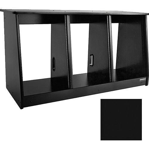 Omnirax 48 Space (3 X 16) Producer's Cabinet (Black Melamine)