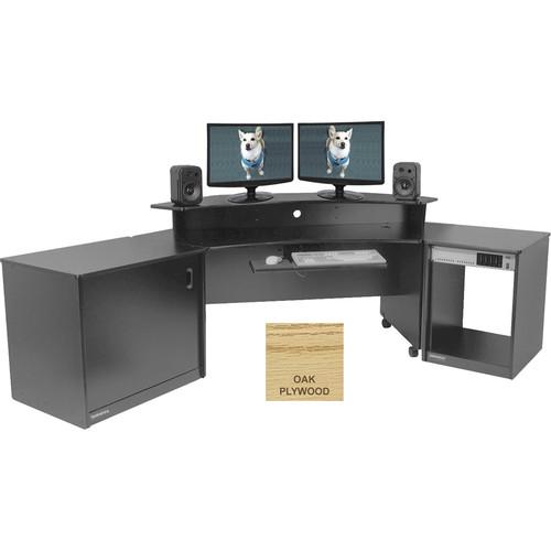 Omnirax Producer's Corner Suite (Oak Plywood)