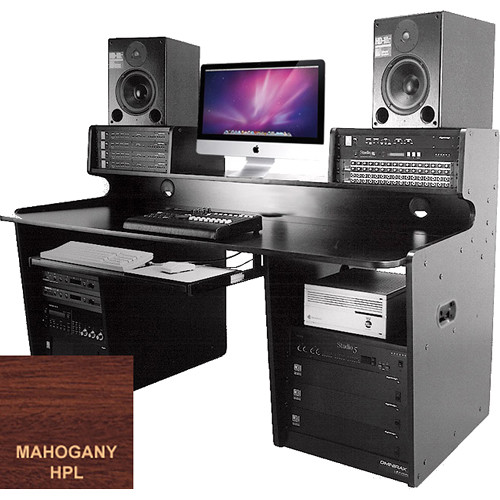 Omnirax ProStation Audio / Video Editing Workstation (Mahogany Formica)