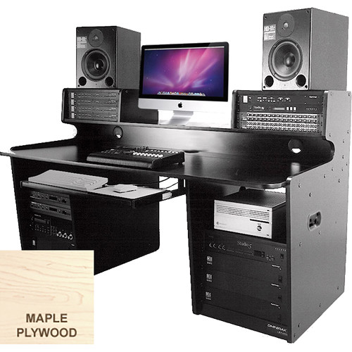 Omnirax ProStation Audio / Video Editing Workstation (Maple Plywood)