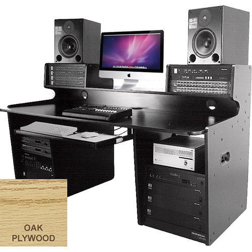 Omnirax ProStation Audio / Video Editing Workstation (Oak Plywood)