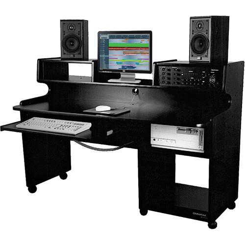 Omnirax ProStation Jr. Workstation (Black Melamine)