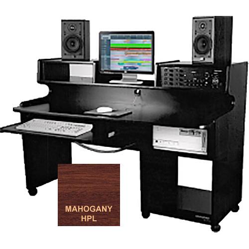 Omnirax ProStation Junior Audio / Video Editing Workstation (Mahogany Formica)