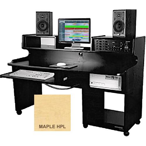 Omnirax ProStation Junior Audio / Video Editing Workstation (Maple Formica)