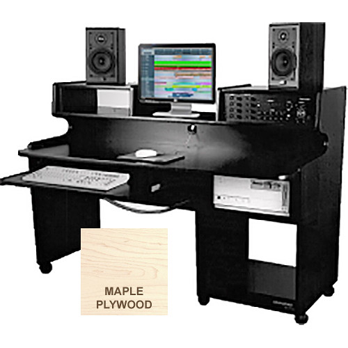 Omnirax ProStation Junior Audio / Video Editing Workstation (Maple Plywood)