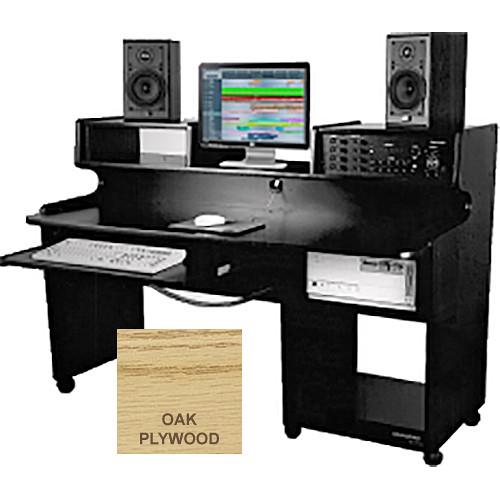 Omnirax ProStation Junior Audio / Video Editing Workstation (Oak Plywood)