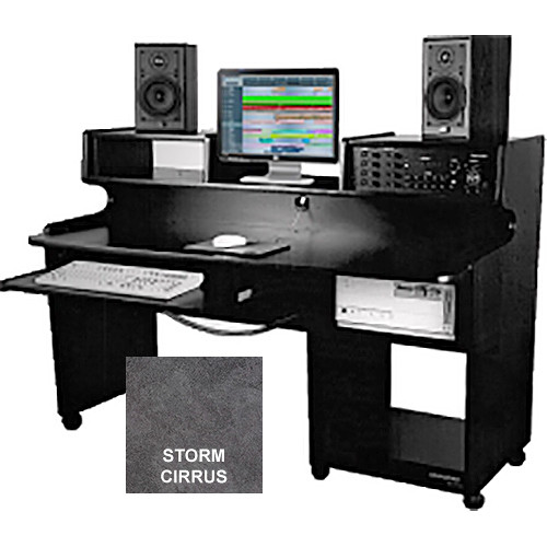 Omnirax ProStation Junior Audio / Video Editing Workstation (Storm Cirrus Formica)