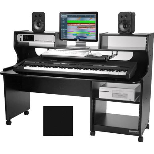 Omnirax Prostation Junior Mixing / Composing Workstation (Mahogany)
