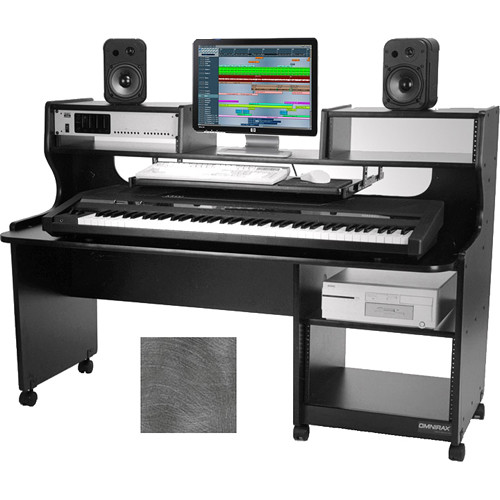Omnirax Prostation Junior Mixing / Composing Workstation (Pewter Brush)