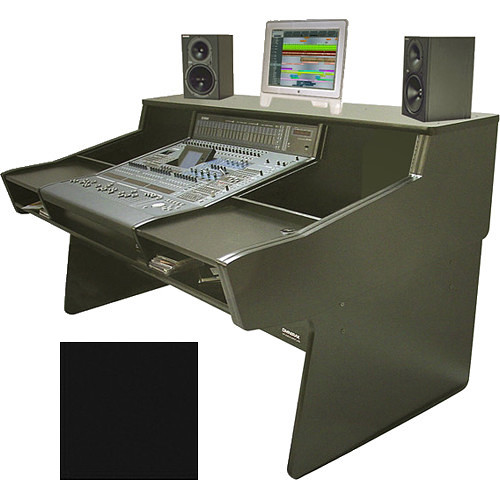 Omnirax Synergy 600 for Yamaha Dm2000 with 24 Rack Spaces (Black Melamine)