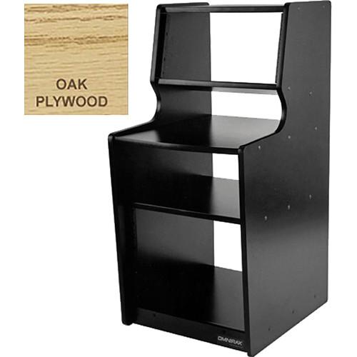 Omnirax Sidekick Rack Cabinet / Desk / Shelf Combo (Oak Plywood)