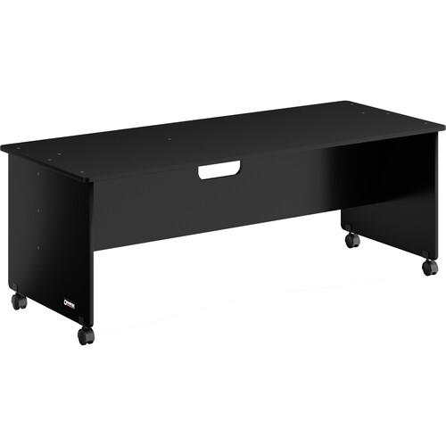 "Omnirax Workstation Desk - 30"" Deep (Black Melamine)"